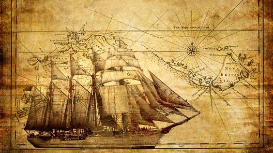 Фотошпалери Старовинні карти 16_0004