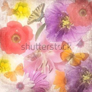 Цветы фон -243460963