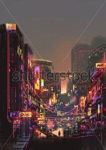 Ночной город -204508135