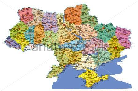Фотообои Карта Украины 298001129