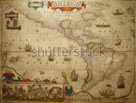 Фотообои Старинная карта -324999131