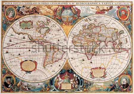 Фотообои Античная карта мира -46286047