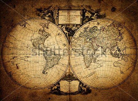 Фотошпалери Карта світу -117865126
