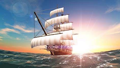Фотошпалери Вітрильники та човни -362198