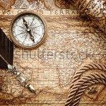 Фотошпалери Стародавня карта -166565744