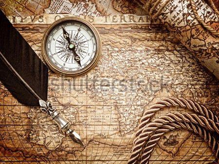 Фотообои Старинная карта -166565744