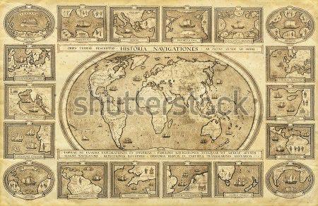 Фотошпалери Карта світу -59613046