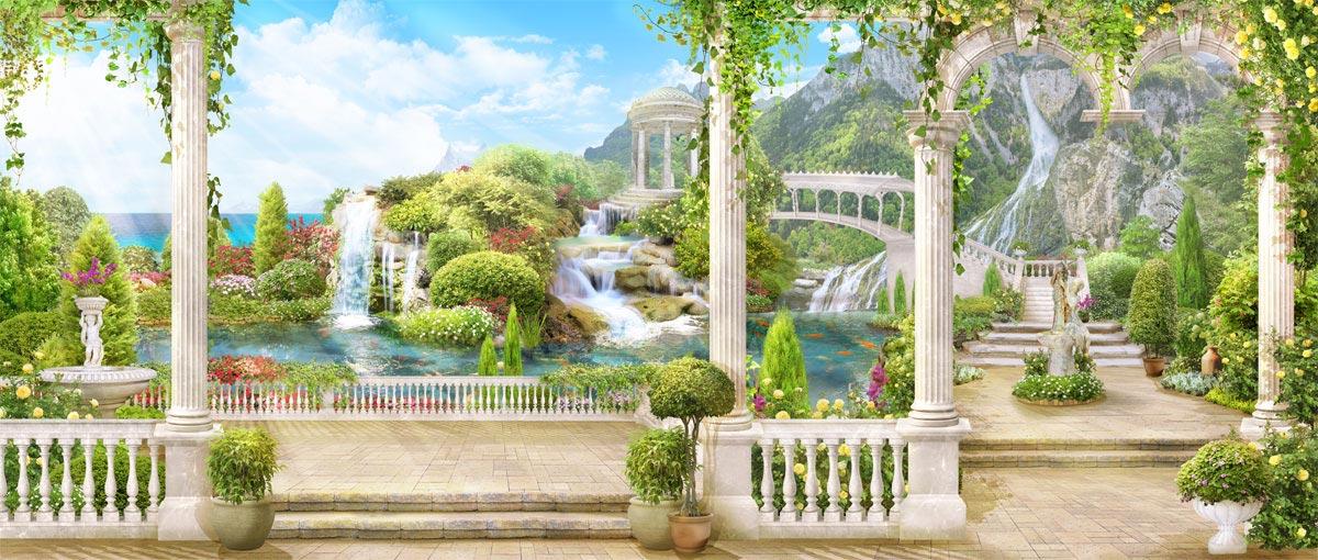 Фотообои Водопады