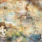 Старовина фреска -30016