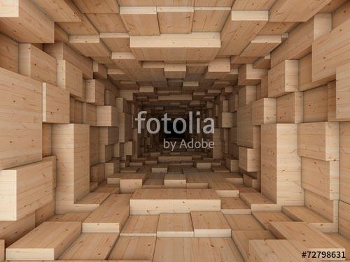 Фотообои 3д туннель -72798631