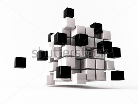 Фотообои 3д куб -54188137