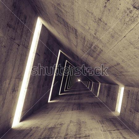 Фотообои 3д туннель -218365000