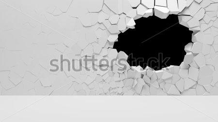 Фотообои 3д стена -73648354
