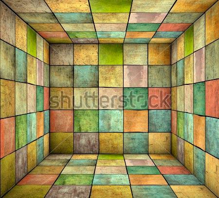 Фотообои 3д куб -134450519