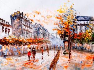 Улочка Парижа -389892310