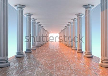 Фотообои 3д колонны -106282298