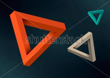 Фотообои 3д Треугольник -242784019