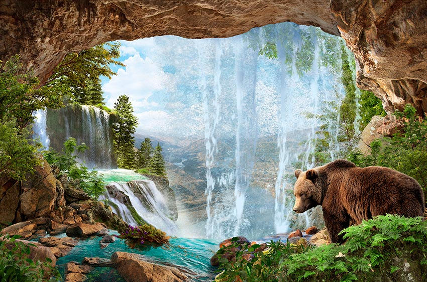 Фотошпалери Водоспад -1-138