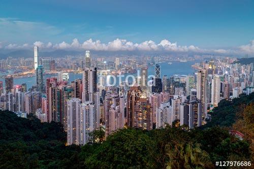 Фотошпалери Вид на місто -127976686