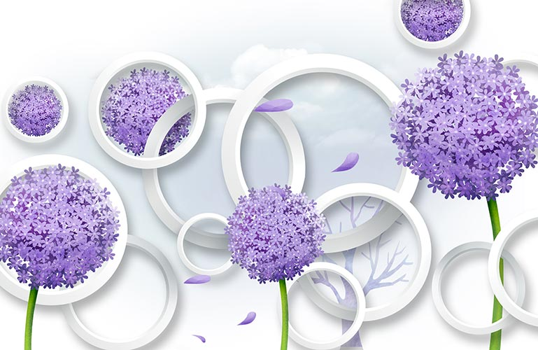 фотообои 3д цветы 047462294
