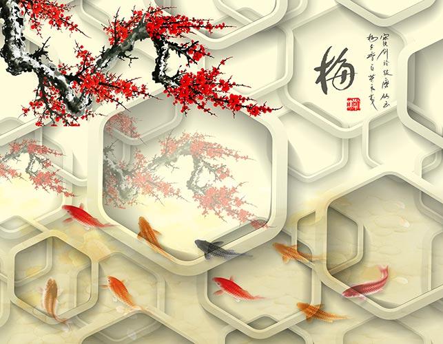 Фото обои 3д на стену сакура