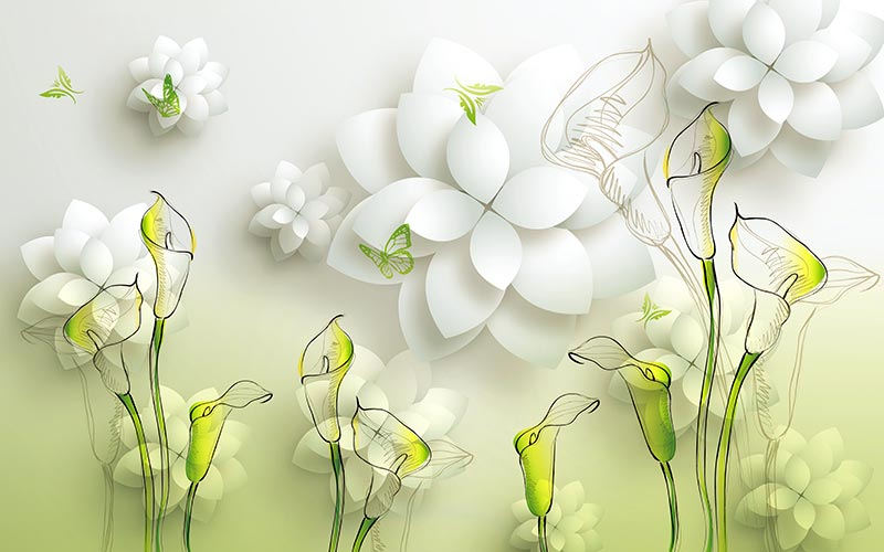 Цветы 3д фото