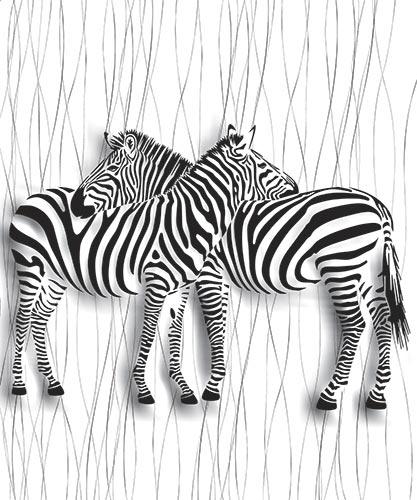 Фотообои 3д зебры -52355475788