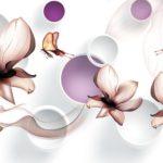 Фотообои 3д цветы 2144385833