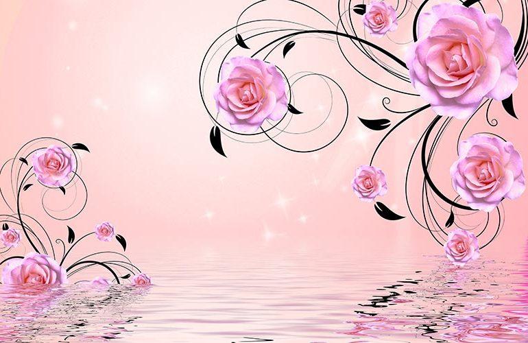фотообои 3д цветы розы