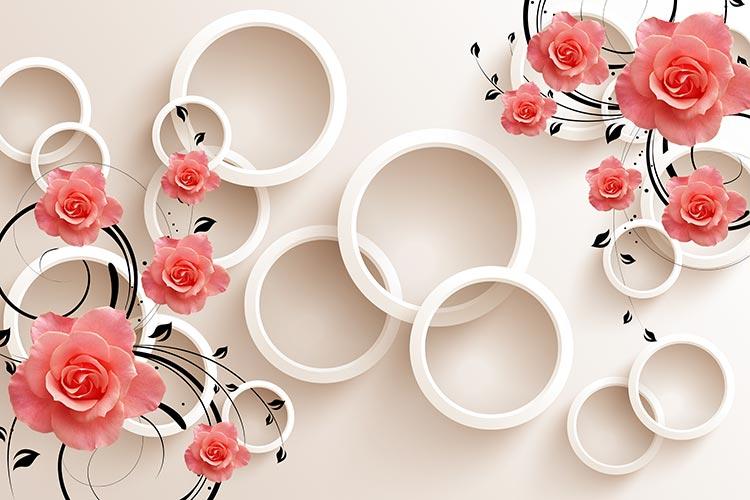 Фотообои 3д цветы 34795356547