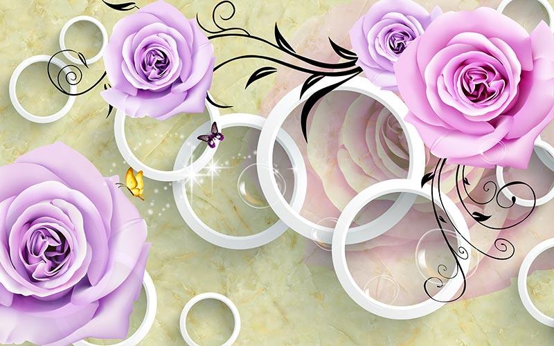 фотообои 3д розы цветы 3609863767