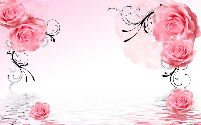 Фотообои 3д цветы 9559346843