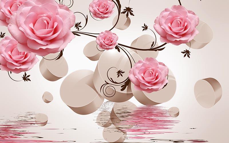 фотообои 3д розы 763830275