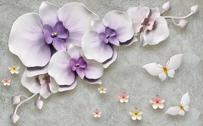 Фотообои 3д цветы 1635566100
