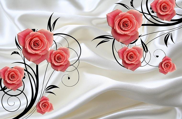 Фотообои 3д цветы 43503238356