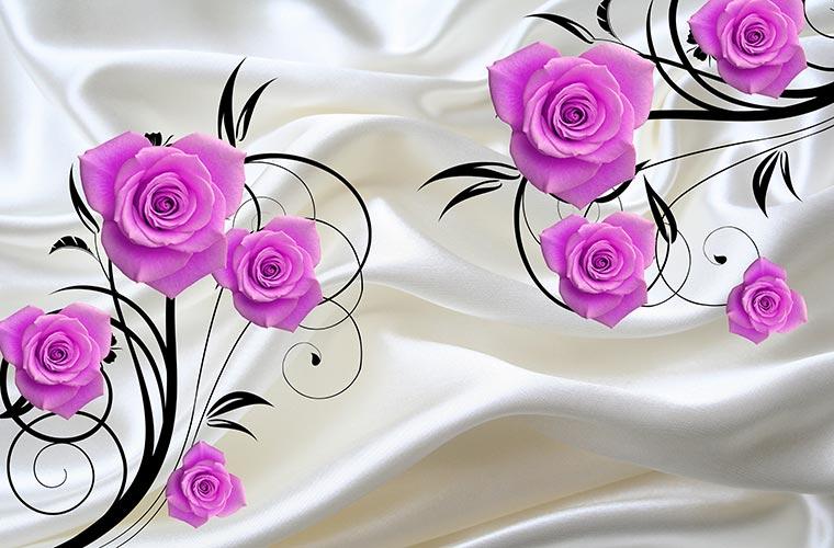 Фотообои 3д цветы 5237021035