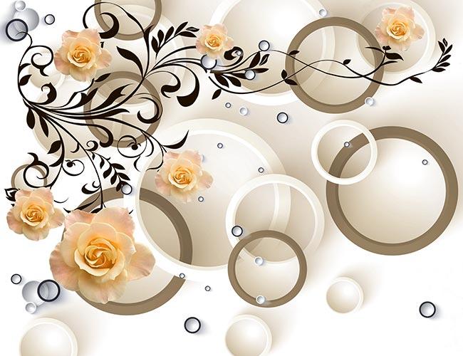 Фотообои 3д цветы 87763357046