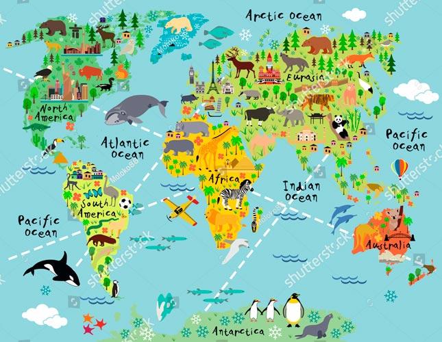 Фотообои Карта 366366260