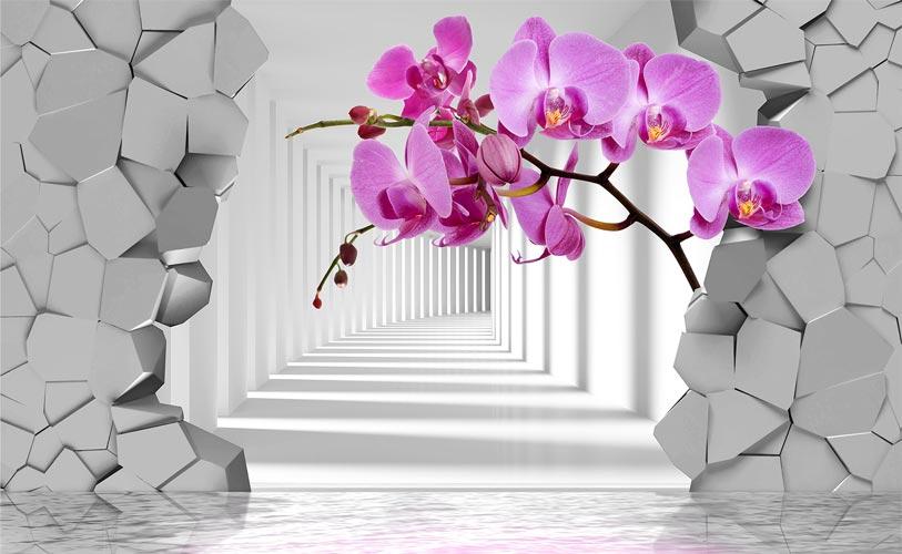 Фотошпалери 3д квіти 346884324