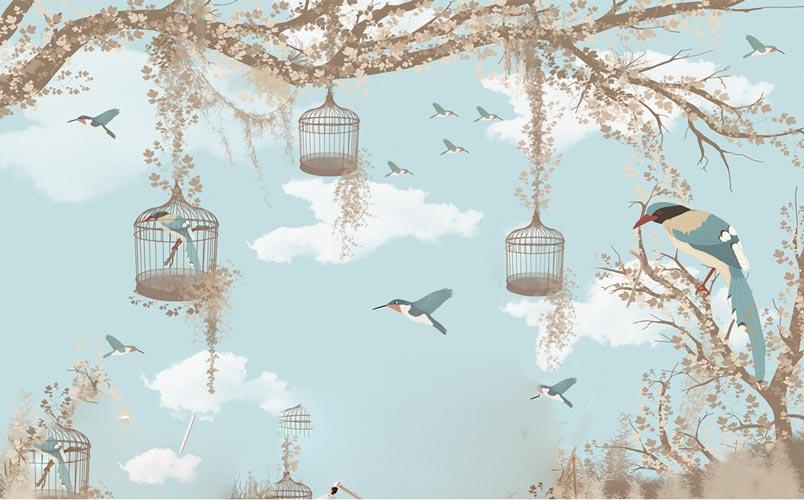 Фотообои Птички 1592994400