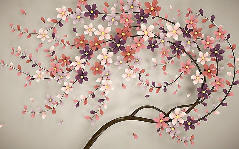 Фотообои 3д дерево 1741775100