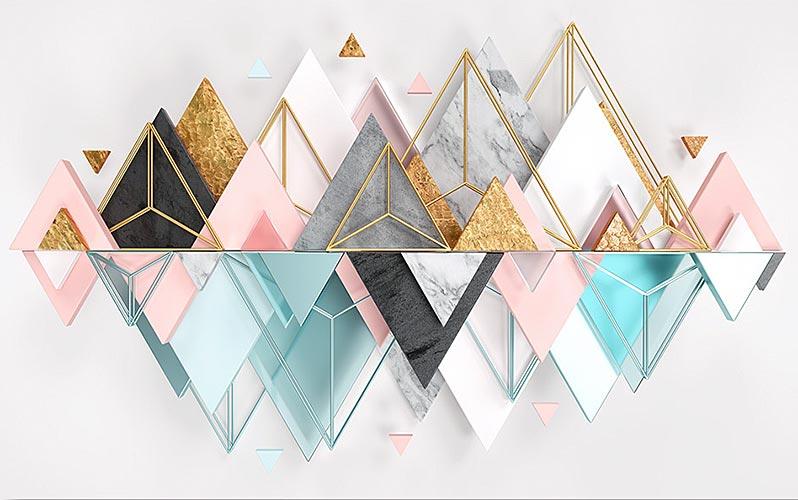 Фотообои 3д треугольник 1747057700