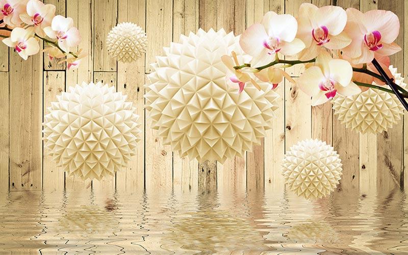 Фотообои 3д цветы 3246339378