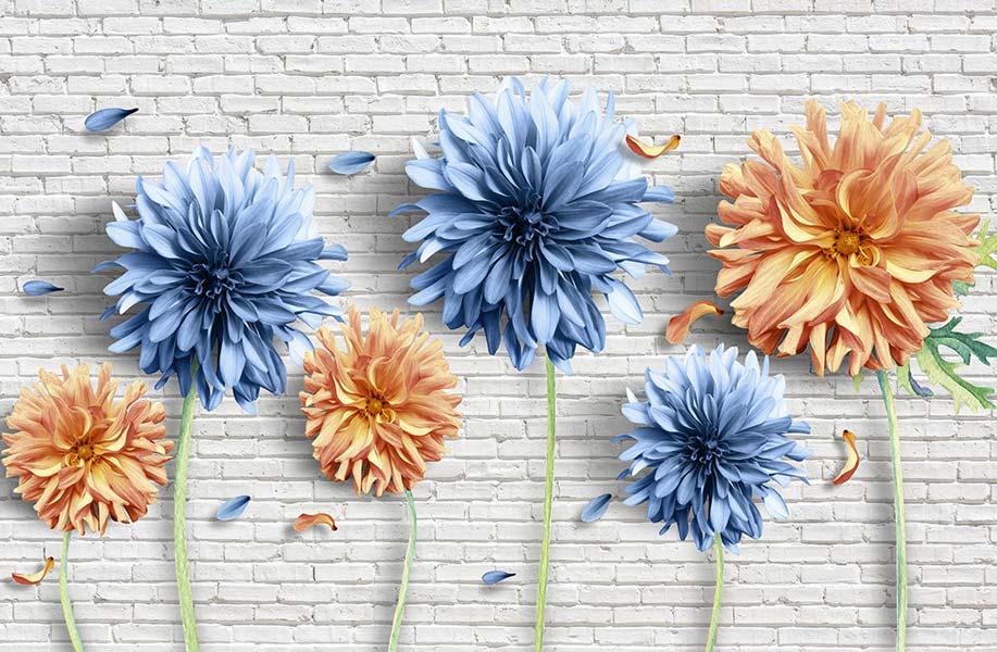 фотообои 3д цветы 390337051