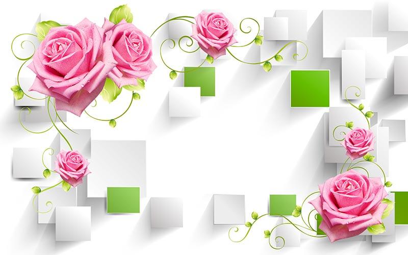Фотообои 3д цветы 458349037