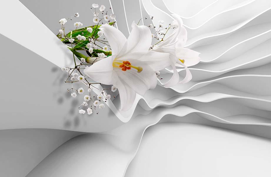 Фотообои 3д цветы 4603627936