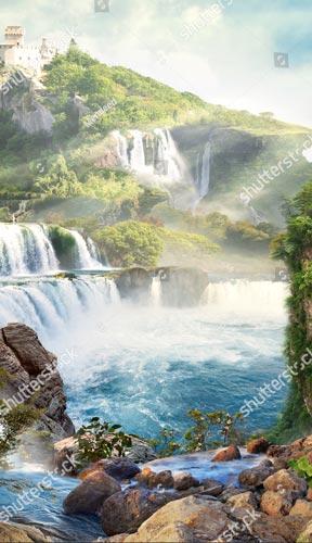 Фотообои Водопад 492691582