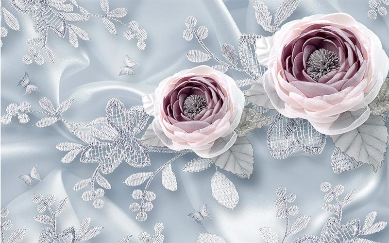Фотообои 3д цветы 706932895