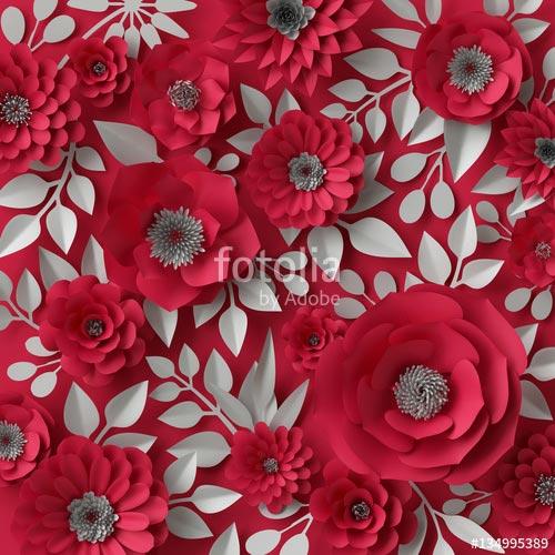 Фотообои 3д цветы 134995389