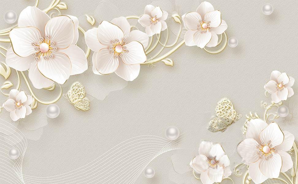 Фотообои 3д цветы 2478649943